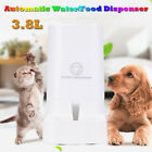 3.8L Automatic Food Water Dispenser Pet Dog Cat Auto Feeder Drinking Bowl Dish