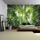ENJOHOS Green Nature Forest Under Sky 3D Print Wall Art Hanging Large Wall Tapes