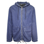 Superdry Men's Mid Blue Denim Hooded Full Zip Jacket Retail 120