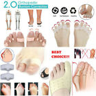 2pc 2.0 Orthopedic Bunion Corrector Toe Separators Elastic Straighteners Spacers