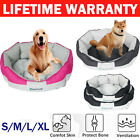 New Pet Dog Bed Waterproof Washable Cushion Hardwearing High Side Soft Basket