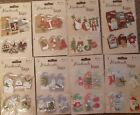 3D HANDMADE TAGS Card Decorations CHRISTMAS HMT-2000 Foam pads Ribbon 6 pieces