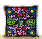 "24"" Square Suzani Cushion Cover 18"" Embroidery Pillowcase 16"" Pillow Cover D1"