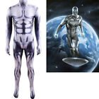 Fantastic Four Silver Surfer Jumpsuit Cosplay Costume For Adult  Kids Halloween