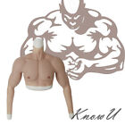 Cosplay Silicone Fake Muscle Suit with Arms for Actor Upper Piece Pectoralis
