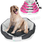 Deluxe Pet Dog Bed Waterproof Washable Cushion Hardwearing High Side Soft Basket