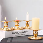 1/2pcs Gold Metal Candle Holder Candlestick Pillar Stand Home Party Xmas Decor