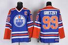 Oilers 99 Wayne Gretzky Jersey Blue Retro Uniform