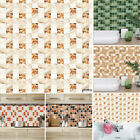 Wall Sticker Tile Brick Mosaic Kitchen Bathroom Home Decor Waterproof Oil-proof
