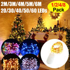 2M-6M LED Copper Wire Fairy String Light Battery Powered Holiday Wedding Decor