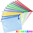 Plastic Zip File Bags Storage Document Folder Protective Wallet Pocket A4/A5/A6