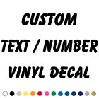 Custom Text Decal Vinyl Lettering Personalized Sticker Business Sign Name Xb