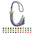 """Mixed Double Color High School Graduation Tassel 9"""" With Gold Year Date Drop"""