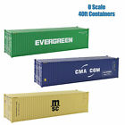 3pcs O Scale 40ft 1:48 Freight Container 40 foot Shipping Container Freight Car