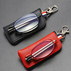 Folding Telescopic Antenna Anti-blue Light Reading Glasses With Leather Bag