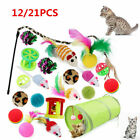 21X Funny Pet Tunnel Cat Play Kitten Stick Mouse Cats Stick Ball Toys Bulk Toy