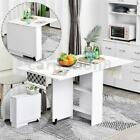3 IN 1 Rolling Dining Table Set Kitchen Storage Trolley Room Breakfast Furniture