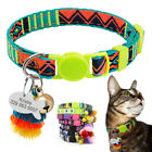 Cute Pet Cat Breakaway Collar Personalized ID Tag Name Number Engraved with Bell