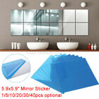 40x Wall Stickers Sheet 3d Mirror Tile Removable Decal Home Decor  C