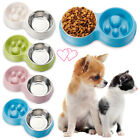 Stainless Steel Slow food Dog Feeding Pet Bowl Cat Drinking Water Puppy Feeder