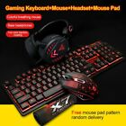 LED Backlight Keyboard Mouse Set Headset Mouse Pad For Nintendo Switch Xbox One