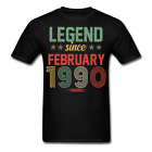 Legend Since February 1990 Retro Birthday Gift funny Unisex Classic T-Shirt