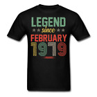 Legend Since February 1979 Retro Birthday Gift funny Unisex Classic T-Shirt