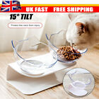 Non-slip Pet Feeding Station Dog Cat Food Water Bowls 1or2 Bowl Raised Stand UK