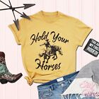 Hold Your Horses Shirt, Rodeo shirt, Dad gift, Western style shirt, Cowgirl tee