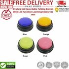 4 Colors Set Recordable Talking Button With Led Function Learning Resources Test