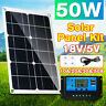 50W Solar Panel Kit with PWM Charge Controller Regulator12V RV Boat OffGrid H3D4