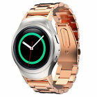 For Samsung Galaxy Gear S2 SM-R720 R730 Stainless Steel Silicone Watch Band o