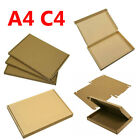 A4 C4 Royal Mail Large Letter Cardboard Mailing Postal Boxes color Brown & Brown