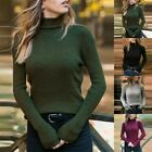 Womens Winter Sweater Top Turtleneck Pullover Casual Bottoming Jumper Blouse