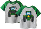 NEW John Deere Toddler Gray Green Sleeve Tractor Coming Going T-Shirt 2T 3T 4T
