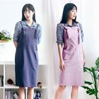 Women's Casual Pure Color Apron Kitchen Bakery Flower Coffee Store Kitchen Dress