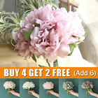 Artificial Silk Peony Fake Flowers Bouquet Bunch Wedding Home Party Art Decor Uk