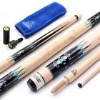 CUESOUL 3 Cushion Carom Billiard Cue 56inch Weight 18oz,Wooden Joint System