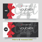 Gift Vouchers nails/hair/massage, 350gsm single or double sided
