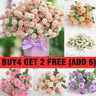20 Heads Artificial Silk Fake Peony Flowers Hydrangea Wedding Home Party Decor
