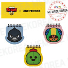 BRAWL STARS x LINE FRIENDS Face Spring Note CROW SPIKE LEON Authentic Goods