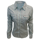 Columbia Women's Silver Ridge Lite Blue Gingham Plaid L/S Shirt Retail 55 490