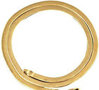 Real 18K Yellow Gold Filled TARNISH-FREE 4mm Wide Herringbone Chain Necklace K14