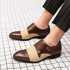 Men Dress Shoes Business Buckle Nightclub Party Formal Pointed Toe Retro Shoes