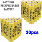4/8/20pcs 3.7V Li-ion Rechargeable Batteries For Flashlight Torch + Battery Case