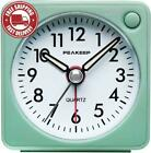 Ultra Small, Peakeep Battery Travel Alarm Clock with Snooze and Light, Silent wi