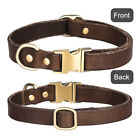 Real Leather Dog Collar Pet Cat Puppy Leather Neck Strap Adjustable Soft Collars