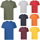 FRUIT OF THE LOOM SUPER PREMIUM T SHIRT 15 COLOURS S-XXL