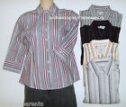 GEORGE - SHIRT – STRIPED - WHITE - BROWN -BLACK -BEIGE - SIZE  XS (0/2) –NEW $16