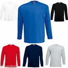 FRUIT OF THE LOOM LONG SLEEVED T SHIRT S - XXL 6 COLS GENUINE PRODUCT